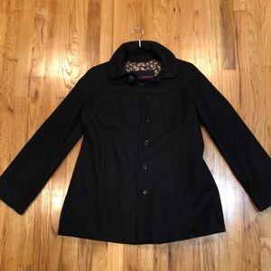 Black Betsey Johnson wool coat